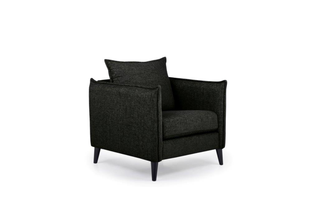 LEO 1 seater (DOKKER 6 black) side softnord soft nord scandinavian style furniture modern interior design sofa bed chair pouf upholstery