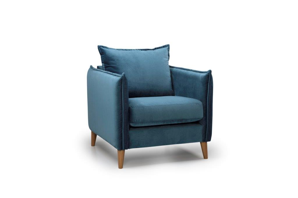 LEO 1 seater (NAPOLY 16 blue) side softnord soft nord scandinavian style furniture modern interior design sofa bed chair pouf upholstery