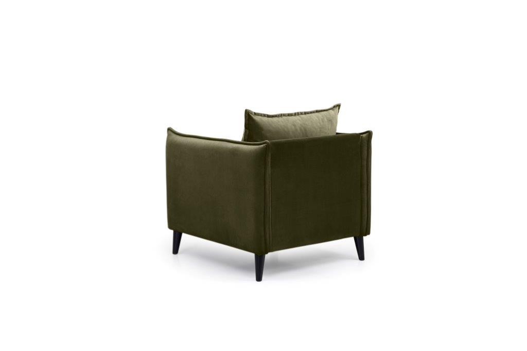 LEO 1 seater (TRENTO 13 khaki) back softnord soft nord scandinavian style furniture modern interior design sofa bed chair pouf upholstery
