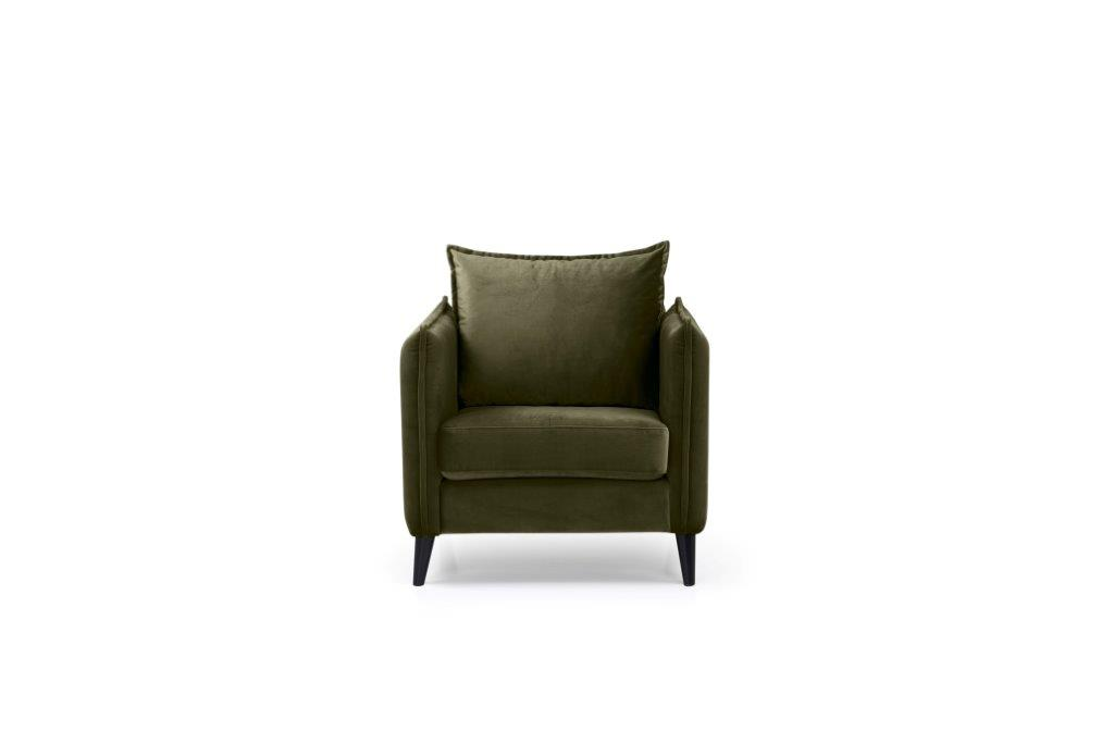 LEO 1 seater (TRENTO 13 khaki) front softnord soft nord scandinavian style furniture modern interior design sofa bed chair pouf upholstery