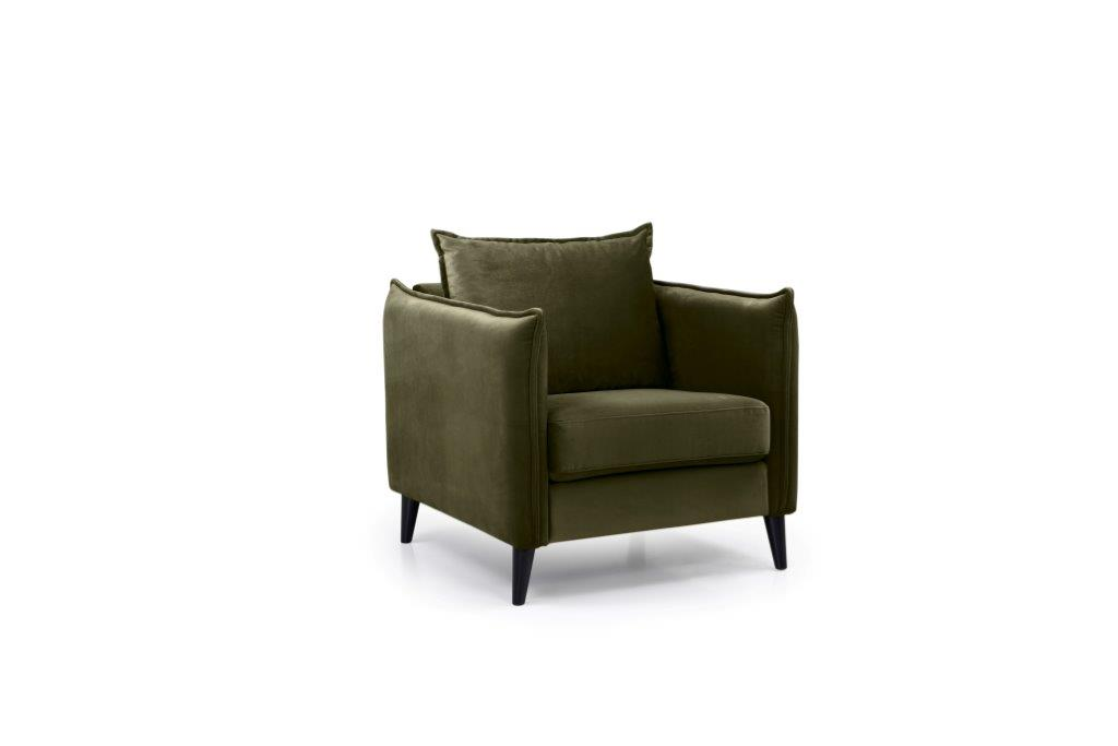 LEO 1 seater (TRENTO 13 khaki) side softnord soft nord scandinavian style furniture modern interior design sofa bed chair pouf upholstery