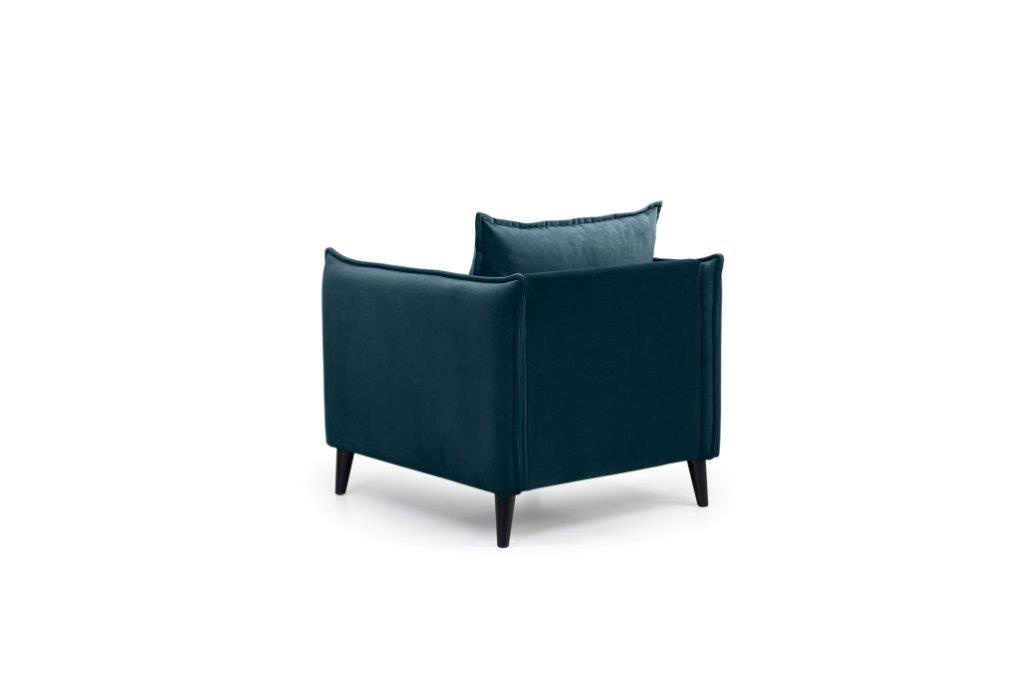 LEO 1 seater (TRENTO 16 blue) back softnord soft nord scandinavian style furniture modern interior design sofa bed chair pouf upholstery