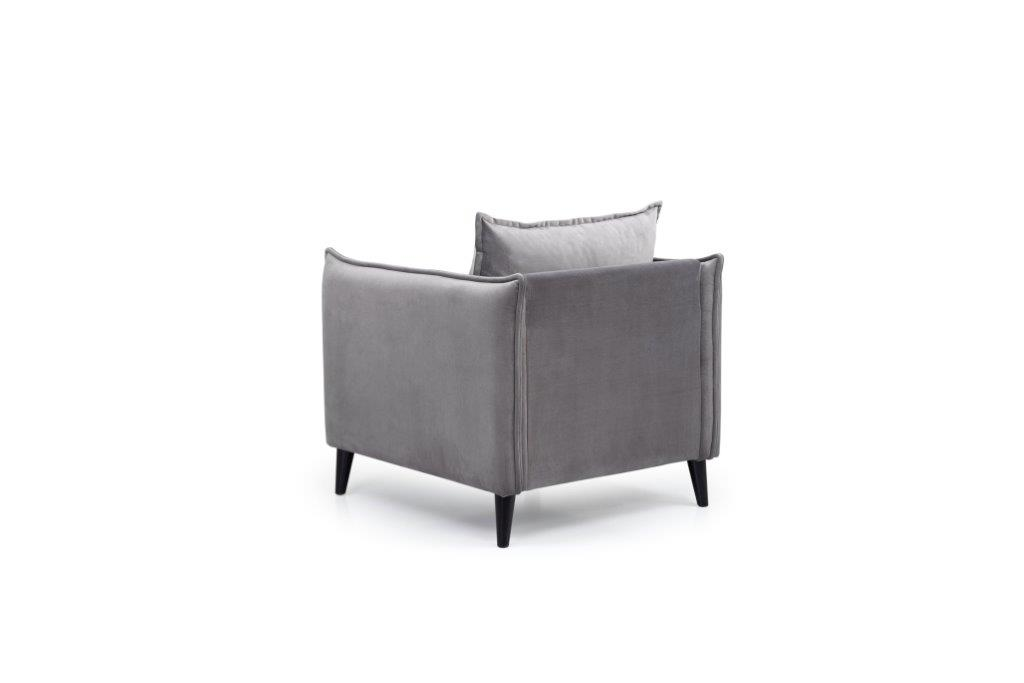 LEO 1 seater (TRENTO 3 grey) back softnord soft nord scandinavian style furniture modern interior design sofa bed chair pouf upholstery
