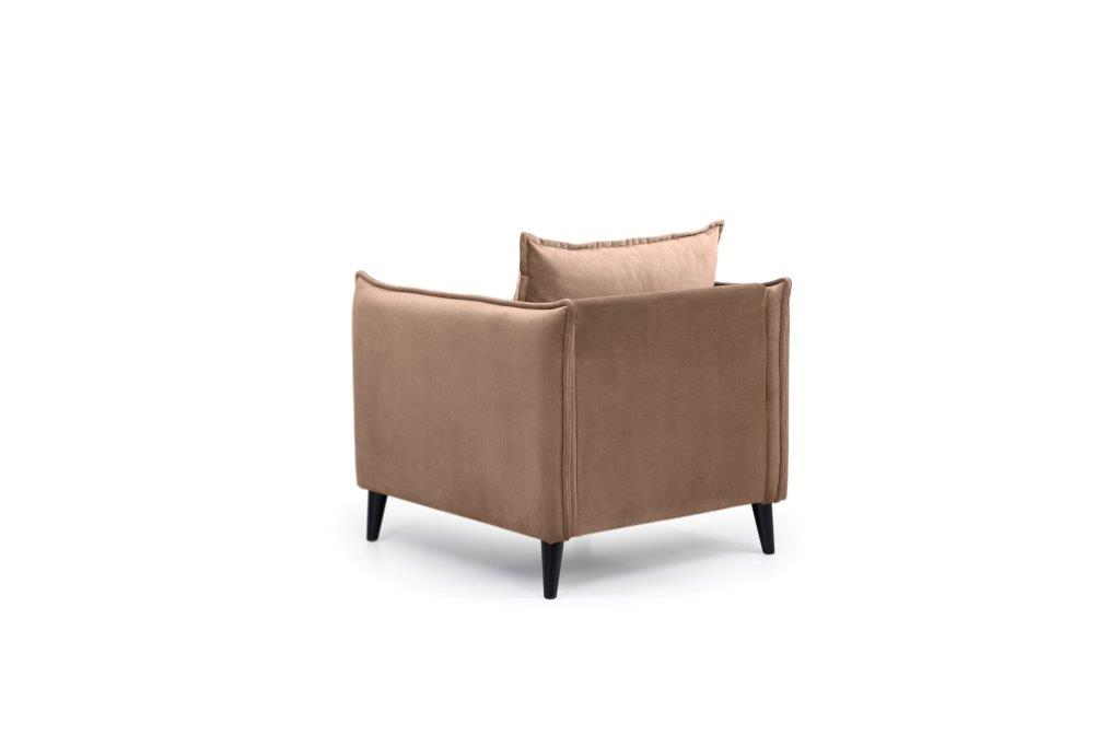 LEO 1 seater (TRENTO 9 cappuccino) back softnord soft nord scandinavian style furniture modern interior design sofa bed chair pouf upholstery