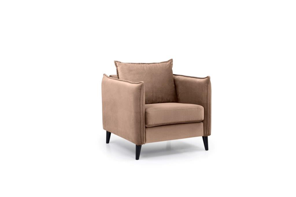 LEO 1 seater (TRENTO 9 cappuccino) side softnord soft nord scandinavian style furniture modern interior design sofa bed chair pouf upholstery