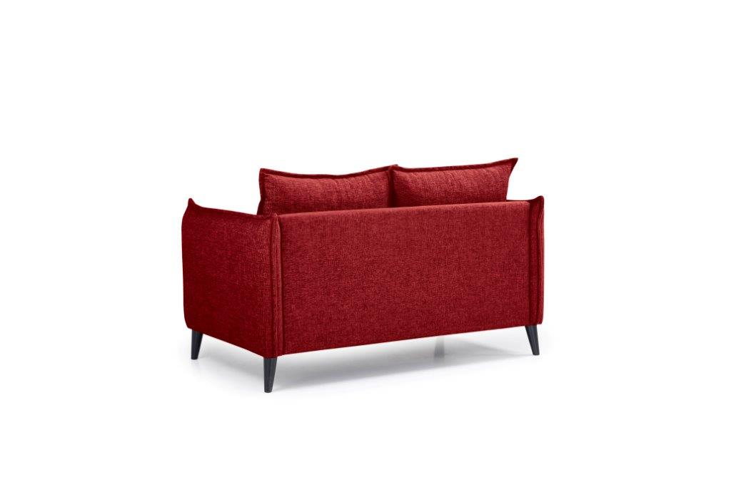 LEO 2 seater (DOKKER 1 red) back softnord soft nord scandinavian style furniture modern interior design sofa bed chair pouf upholstery