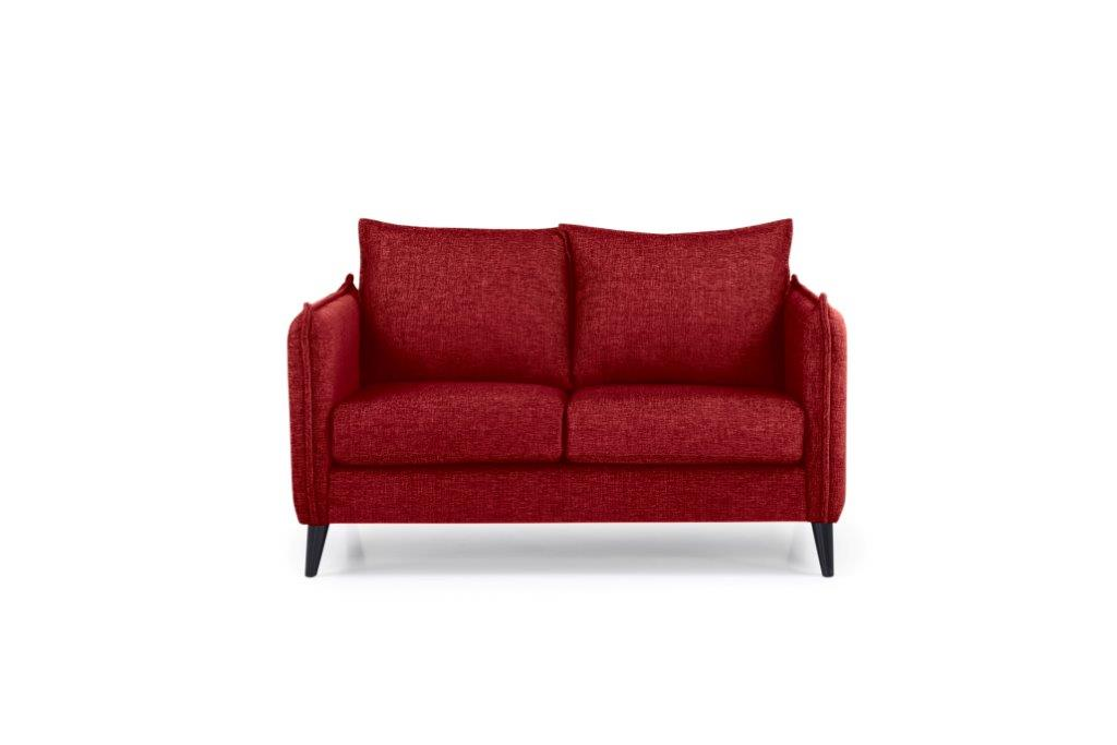 LEO 2 seater (DOKKER 1 red) front softnord soft nord scandinavian style furniture modern interior design sofa bed chair pouf upholstery
