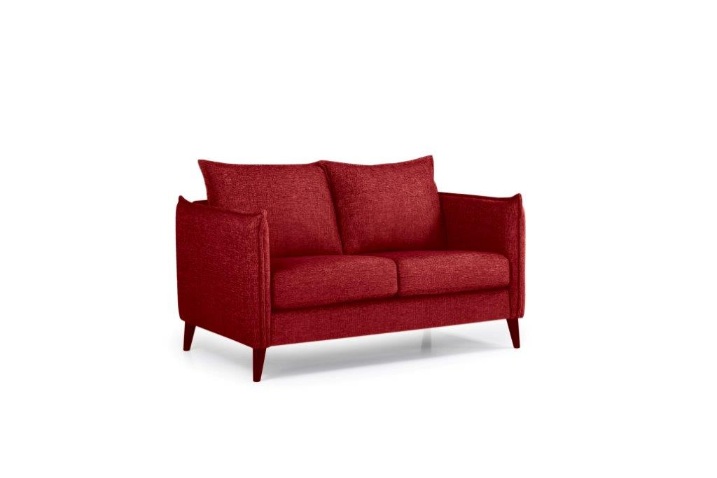 LEO 2 seater (DOKKER 1 red) side softnord soft nord scandinavian style furniture modern interior design sofa bed chair pouf upholstery