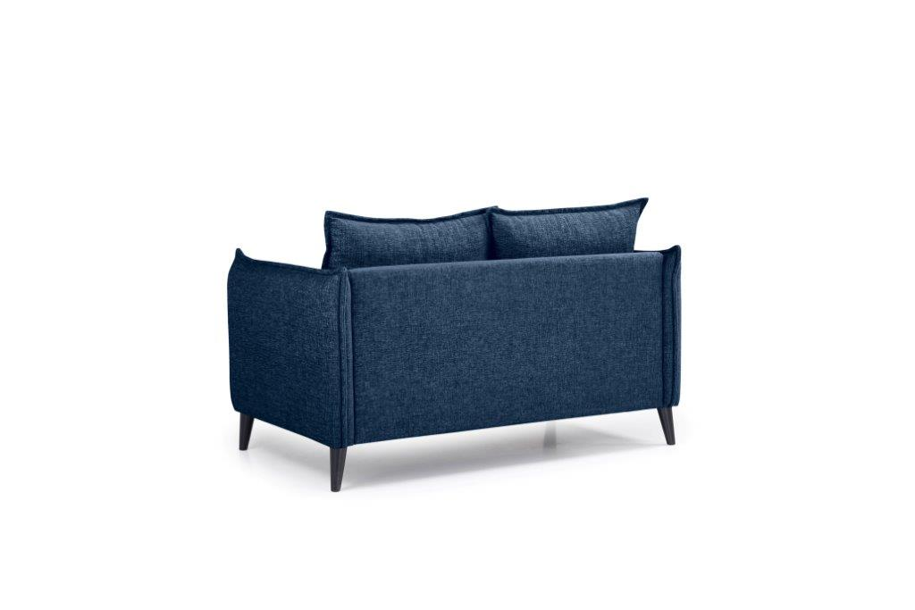 LEO 2 seater (DOKKER 16.2 dark blue) back softnord soft nord scandinavian style furniture modern interior design sofa bed chair pouf upholstery