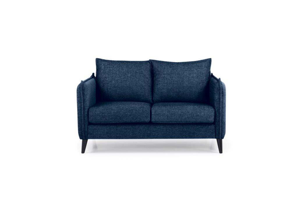 LEO 2 seater (DOKKER 16.2 dark blue) front softnord soft nord scandinavian style furniture modern interior design sofa bed chair pouf upholstery