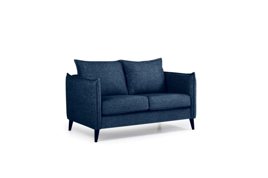 LEO 2 seater (DOKKER 16.2 dark blue) side softnord soft nord scandinavian style furniture modern interior design sofa bed chair pouf upholstery