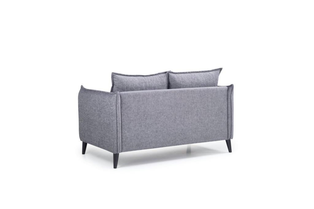 LEO 2 seater (DOKKER 3 grey) back softnord soft nord scandinavian style furniture modern interior design sofa bed chair pouf upholstery