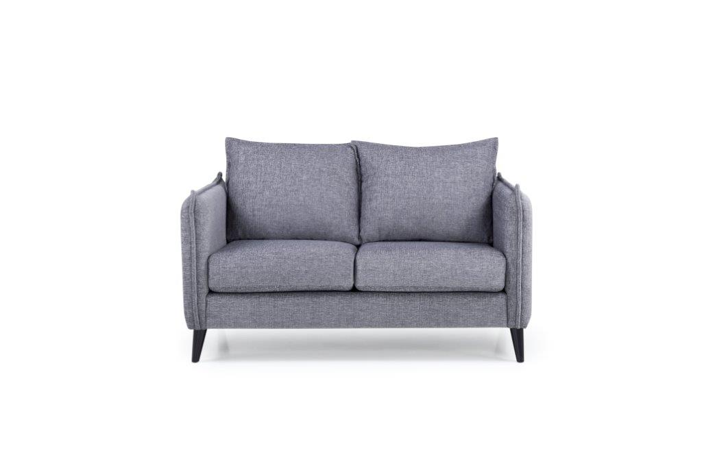 LEO 2 seater (DOKKER 3 grey) front softnord soft nord scandinavian style furniture modern interior design sofa bed chair pouf upholstery