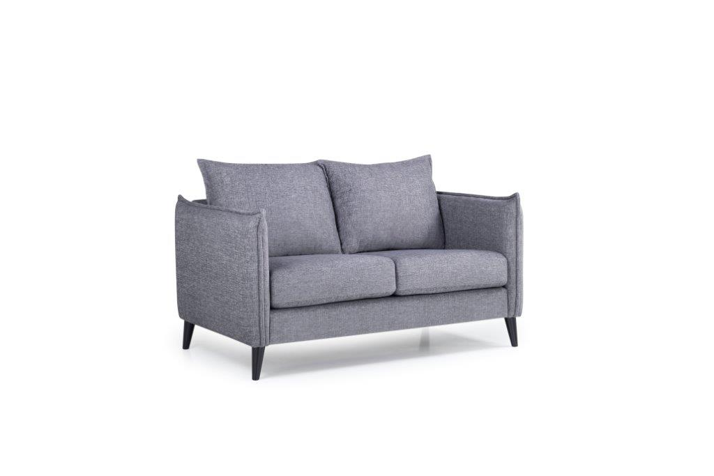LEO 2 seater (DOKKER 3 grey) side softnord soft nord scandinavian style furniture modern interior design sofa bed chair pouf upholstery
