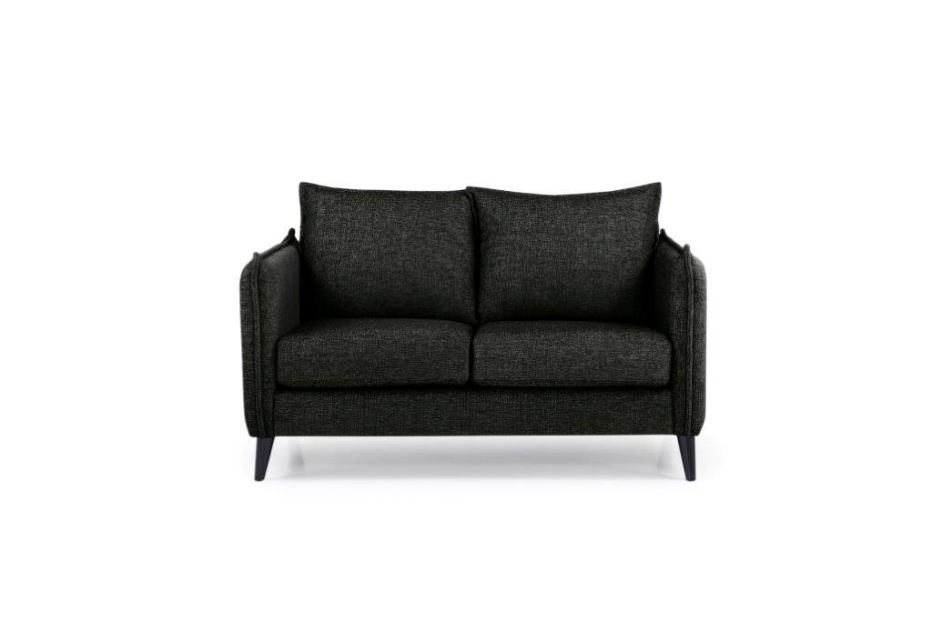 LEO 2 seater (DOKKER 6 black) front softnord soft nord scandinavian style furniture modern interior design sofa bed chair pouf upholstery