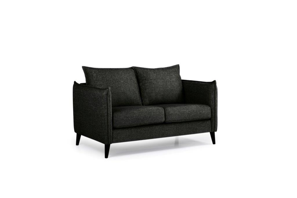LEO 2 seater (DOKKER 6 black) side softnord soft nord scandinavian style furniture modern interior design sofa bed chair pouf upholstery