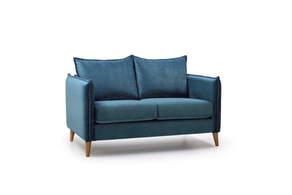 LEO 2 seater (NAPOLY 16 blue) sidesoftnord soft nord scandinavian style furniture modern interior design sofa bed chair pouf upholstery