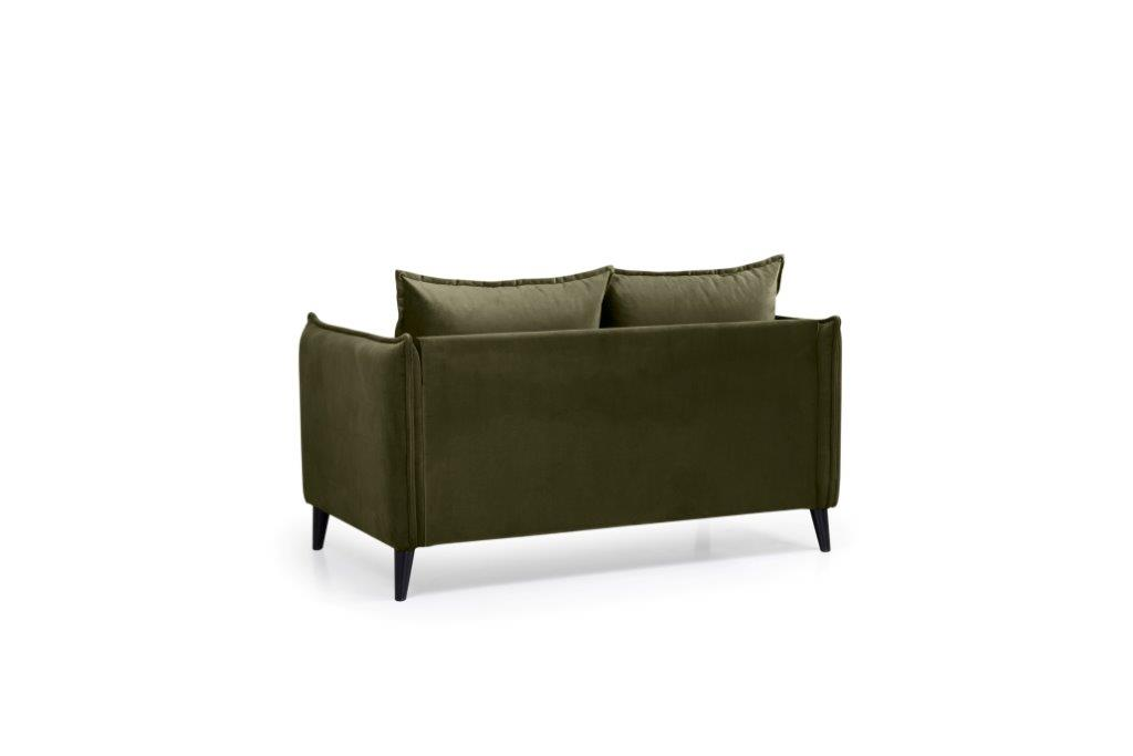 LEO 2 seater (TRENTO 13 khaki) back softnord soft nord scandinavian style furniture modern interior design sofa bed chair pouf upholstery