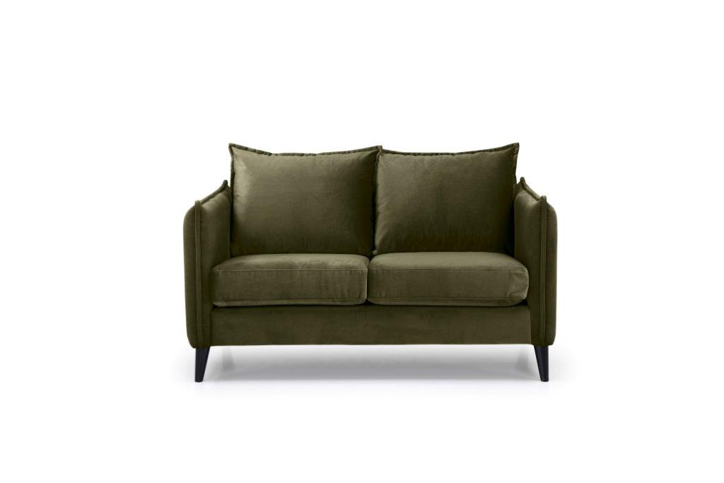 LEO 2 seater (TRENTO 13 khaki) front softnord soft nord scandinavian style furniture modern interior design sofa bed chair pouf upholstery