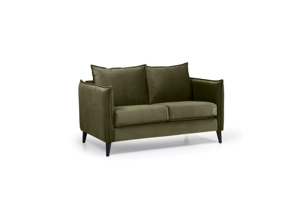 LEO 2 seater (TRENTO 13 khaki) side softnord soft nord scandinavian style furniture modern interior design sofa bed chair pouf upholstery