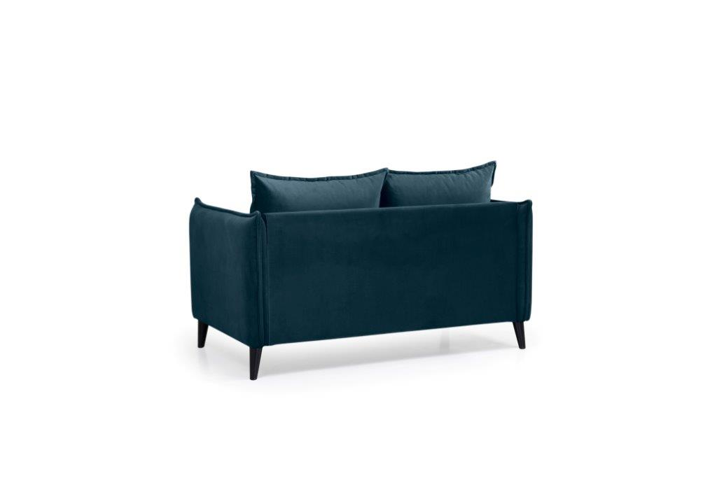 LEO 2 seater (TRENTO 16 blue) back softnord soft nord scandinavian style furniture modern interior design sofa bed chair pouf upholstery