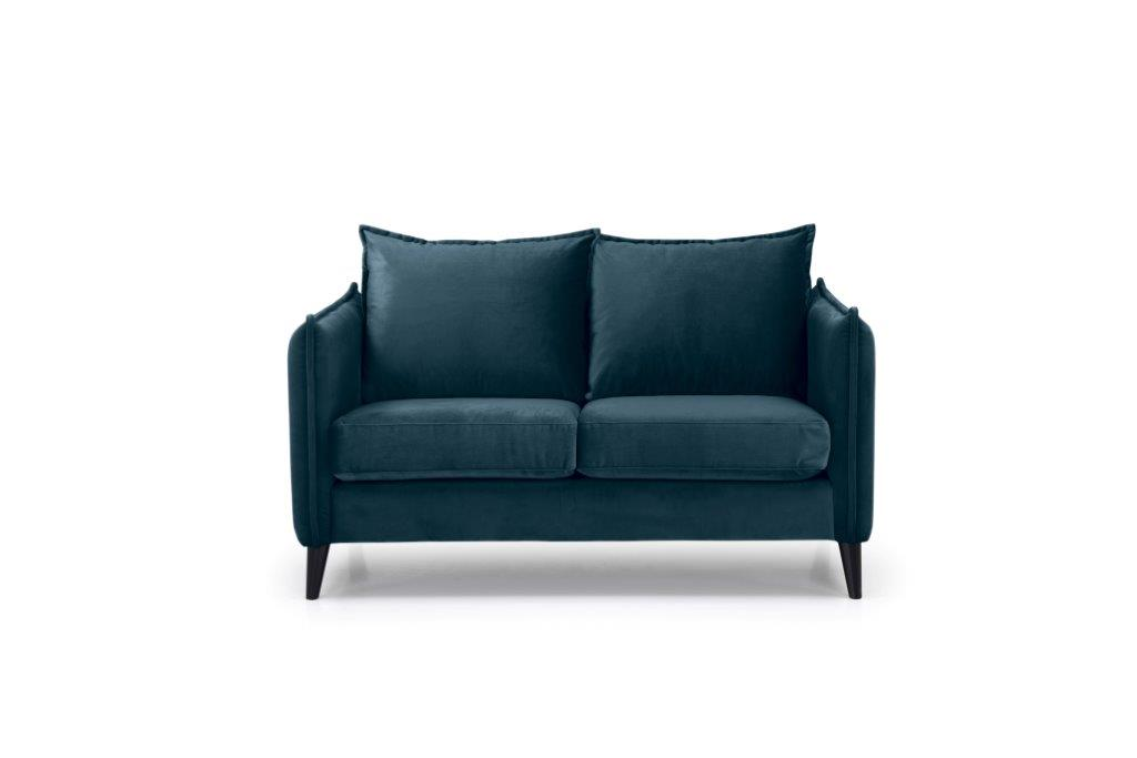 LEO 2 seater (TRENTO 16 blue) front softnord soft nord scandinavian style furniture modern interior design sofa bed chair pouf upholstery