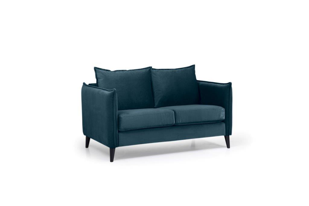 LEO 2 seater (TRENTO 16 blue) side softnord soft nord scandinavian style furniture modern interior design sofa bed chair pouf upholstery
