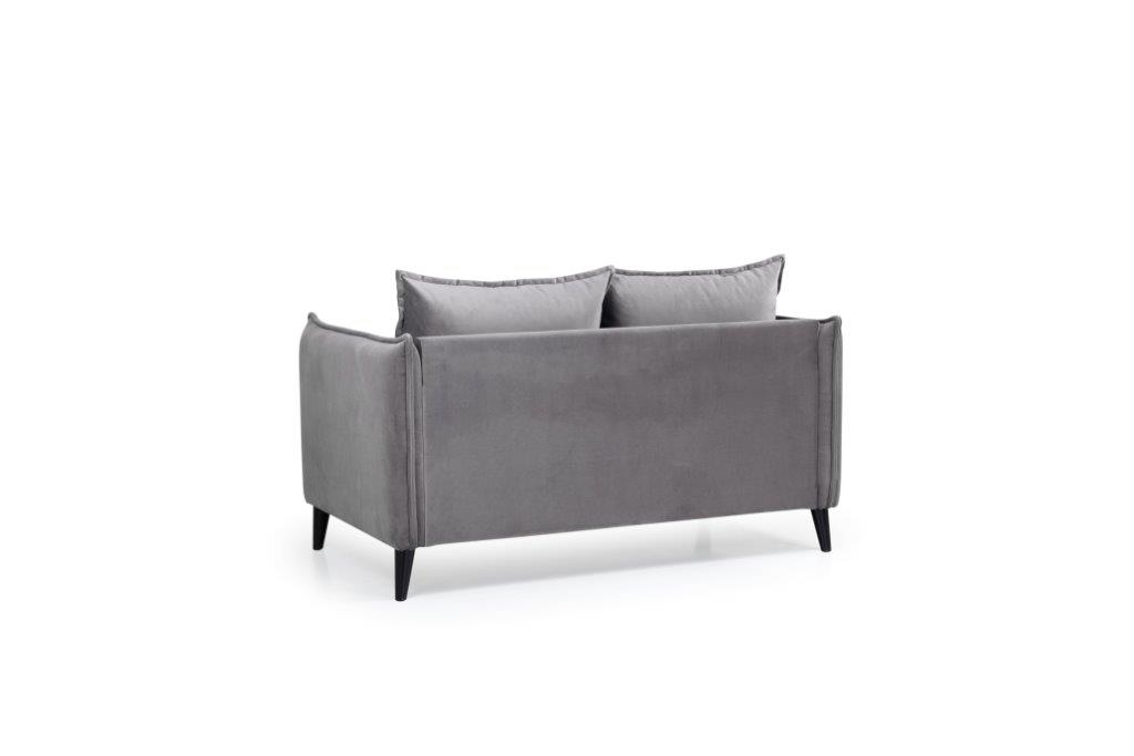 LEO 2 seater (TRENTO 3 grey) back softnord soft nord scandinavian style furniture modern interior design sofa bed chair pouf upholstery