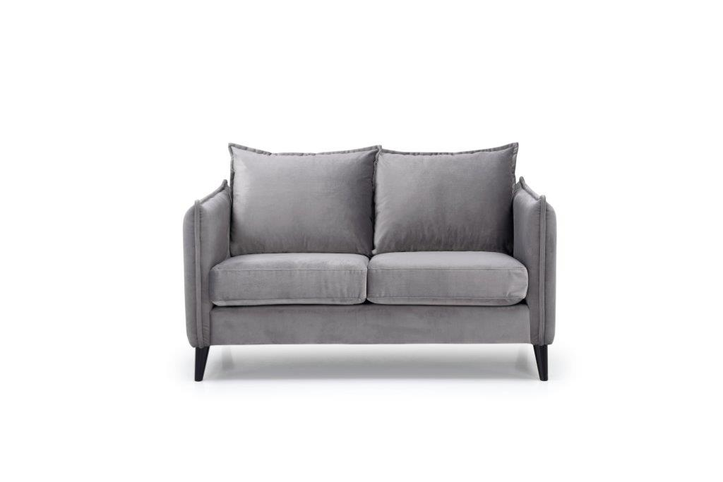 LEO 2 seater (TRENTO 3 grey) front softnord soft nord scandinavian style furniture modern interior design sofa bed chair pouf upholstery