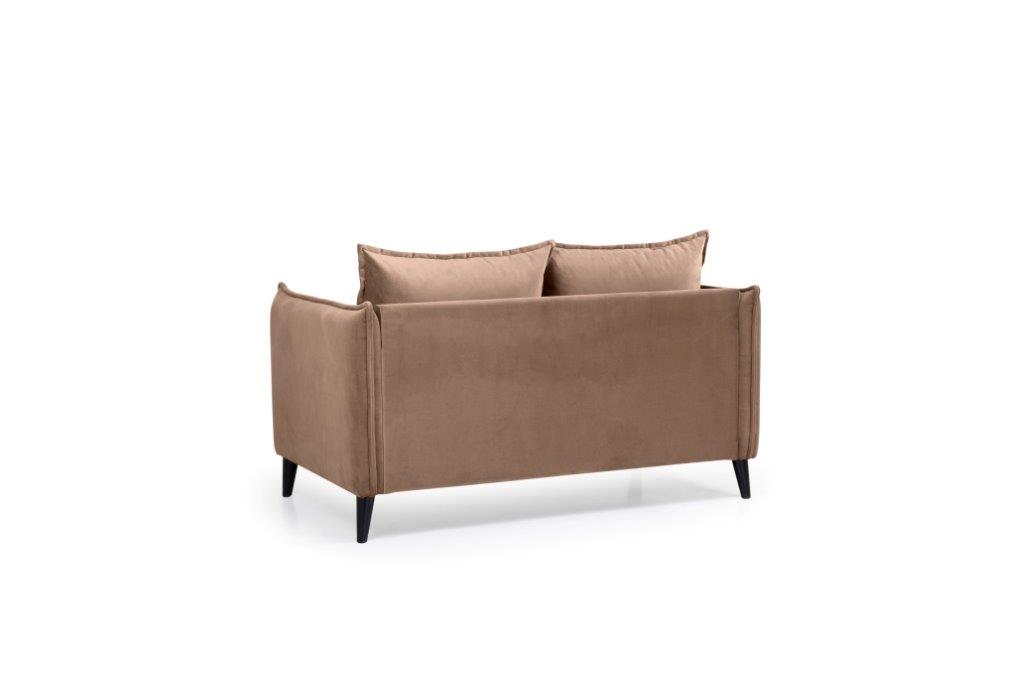 LEO 2 seater (TRENTO 9 cappuccino) back softnord soft nord scandinavian style furniture modern interior design sofa bed chair pouf upholstery