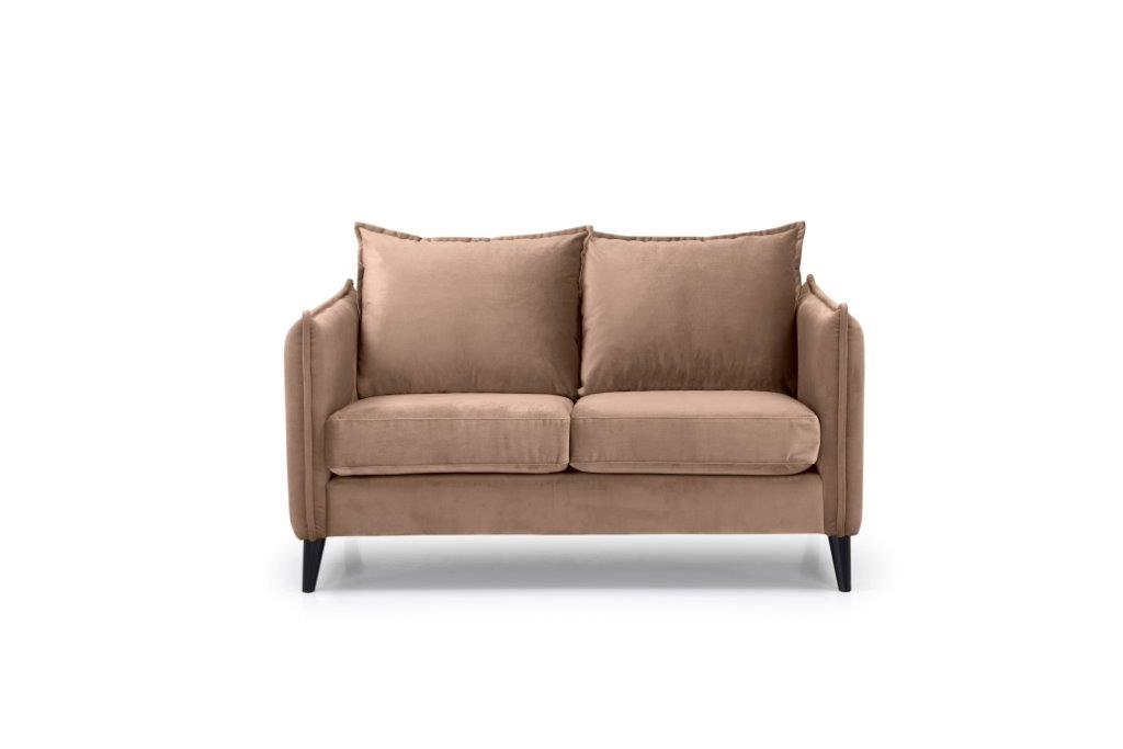 LEO 2 seater (TRENTO 9 cappuccino) front softnord soft nord scandinavian style furniture modern interior design sofa bed chair pouf upholstery