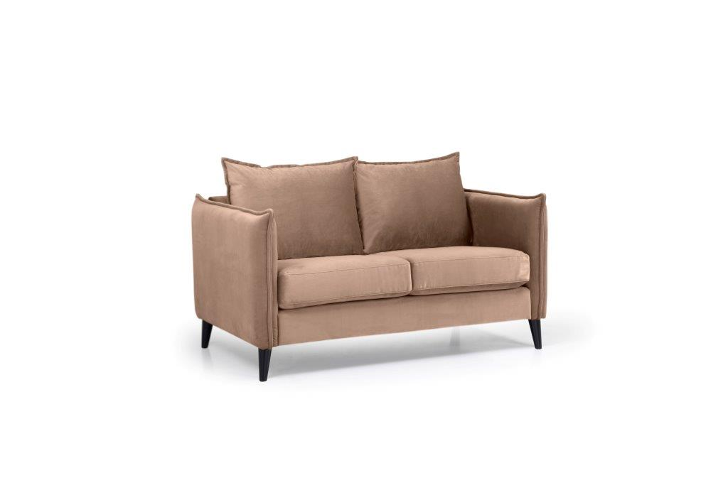 LEO 2 seater (TRENTO 9 cappuccino) side softnord soft nord scandinavian style furniture modern interior design sofa bed chair pouf upholstery