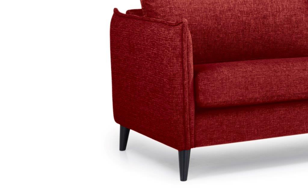 LEO 3 seater (DOKKER 1 red) arm+leg softnord soft nord scandinavian style furniture modern interior design sofa bed chair pouf upholstery