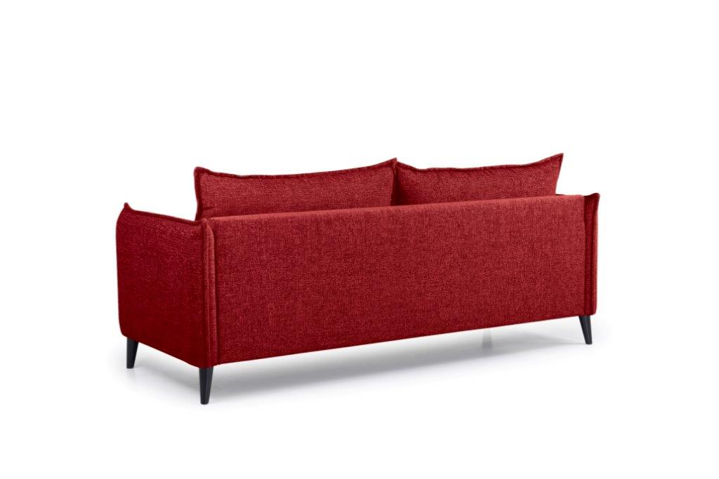 LEO 3 seater (DOKKER 1 red) back softnord soft nord scandinavian style furniture modern interior design sofa bed chair pouf upholstery