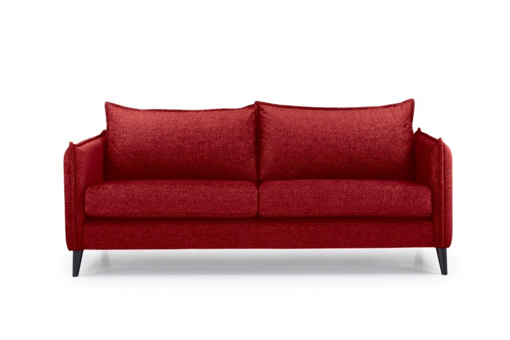 LEO 3 seater (DOKKER 1 red) front softnord soft nord scandinavian style furniture modern interior design sofa bed chair pouf upholstery