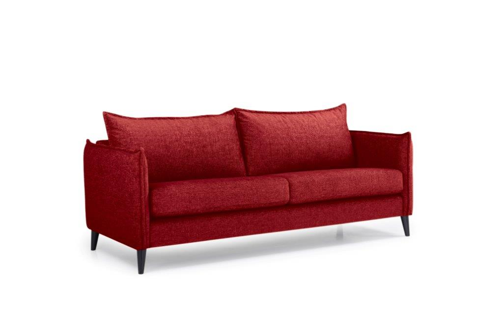 LEO 3 seater (DOKKER 1 red) side softnord soft nord scandinavian style furniture modern interior design sofa bed chair pouf upholstery