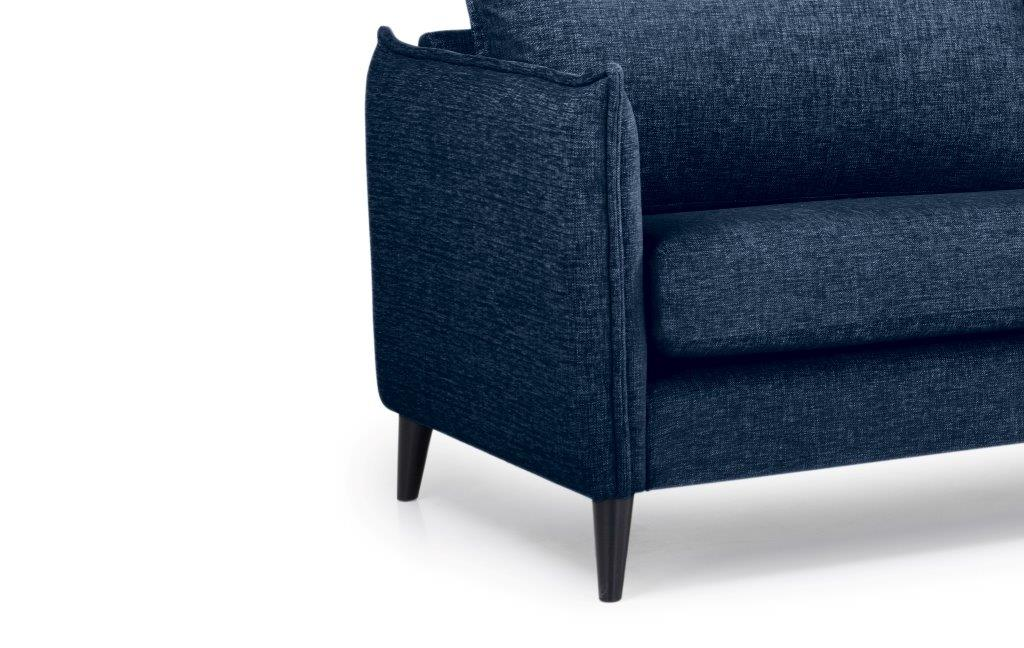LEO 3 seater (DOKKER 16.2 dark blue) arm+leg softnord soft nord scandinavian style furniture modern interior design sofa bed chair pouf upholstery