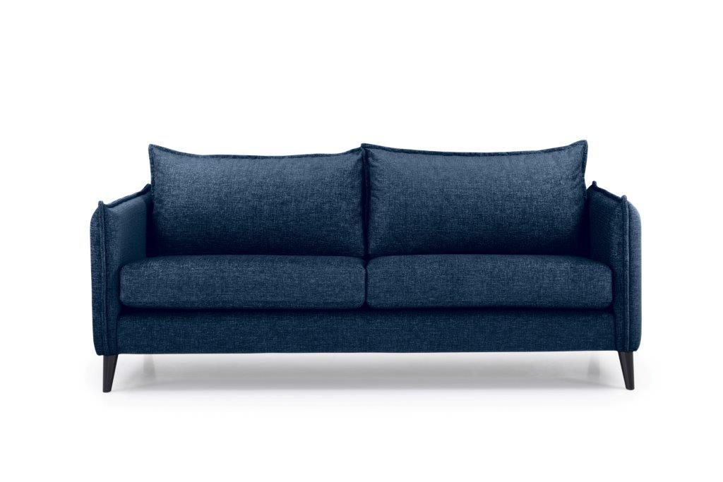 LEO 3 seater (DOKKER 16.2 dark blue) front softnord soft nord scandinavian style furniture modern interior design sofa bed chair pouf upholstery
