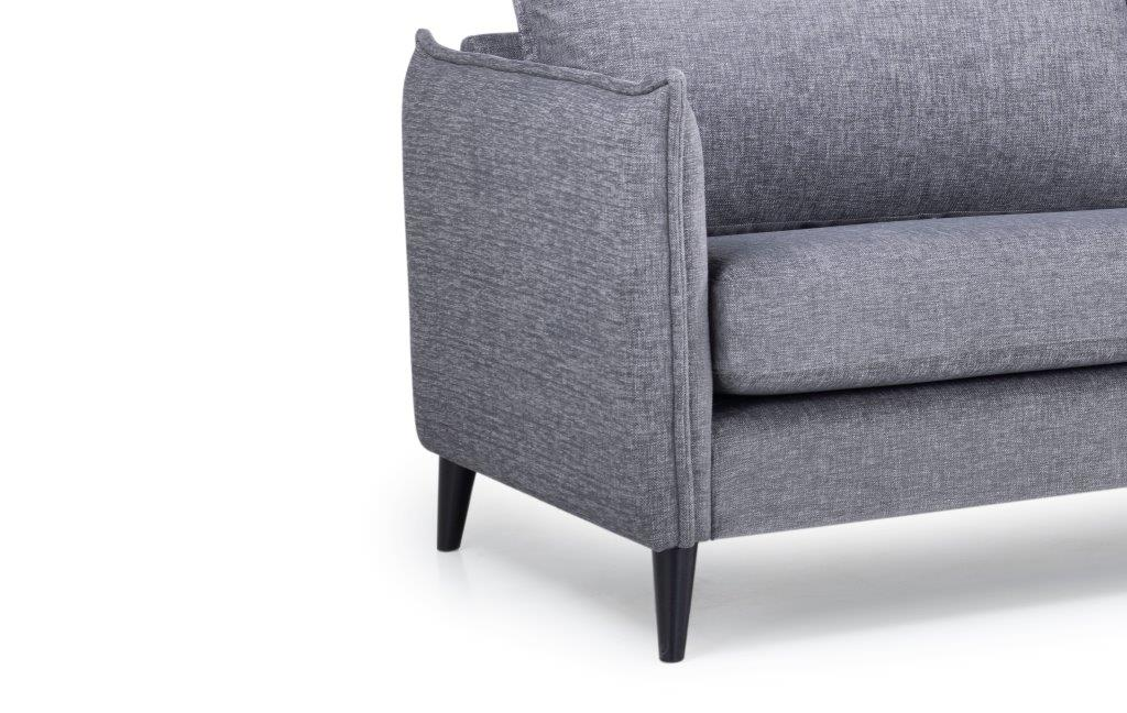 LEO 3 seater (DOKKER 3 grey) arm+leg softnord soft nord scandinavian style furniture modern interior design sofa bed chair pouf upholstery