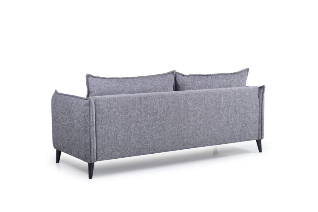 LEO 3 seater (DOKKER 3 grey) back softnord soft nord scandinavian style furniture modern interior design sofa bed chair pouf upholstery