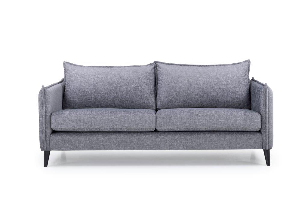 LEO 3 seater (DOKKER 3 grey) front softnord soft nord scandinavian style furniture modern interior design sofa bed chair pouf upholstery