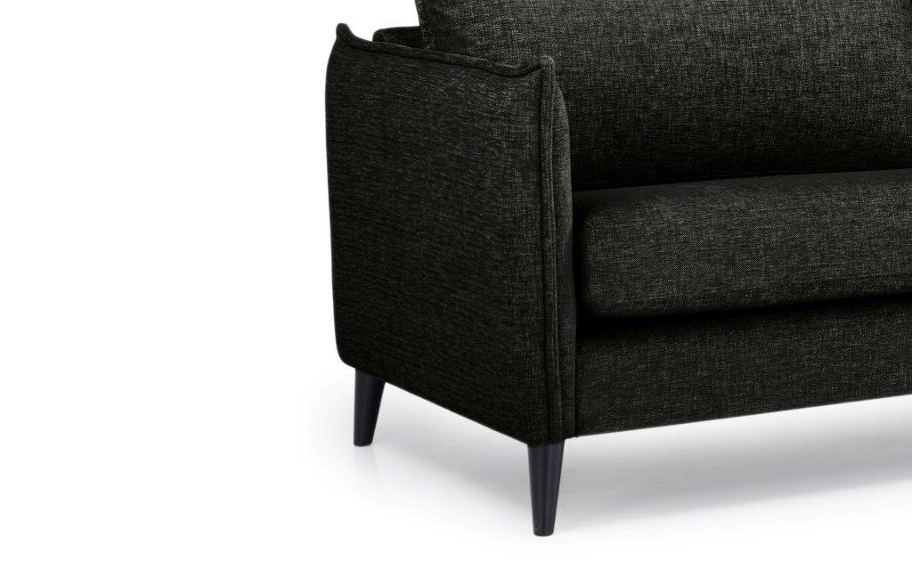 LEO 3 seater (DOKKER 6 black) arm+leg softnord soft nord scandinavian style furniture modern interior design sofa bed chair pouf upholstery