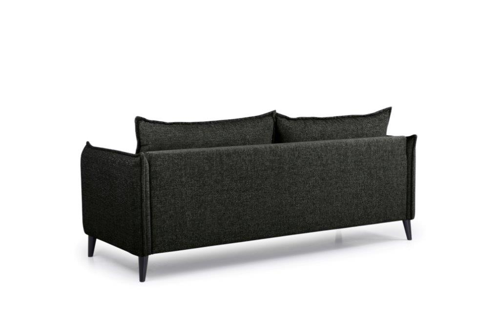 LEO 3 seater (DOKKER 6 black) back softnord soft nord scandinavian style furniture modern interior design sofa bed chair pouf upholstery