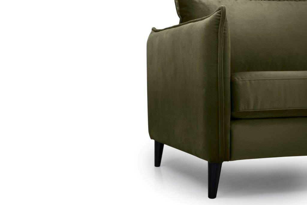 LEO 3 seater (TRENTO 13 khaki) arm+leg softnord soft nord scandinavian style furniture modern interior design sofa bed chair pouf upholstery