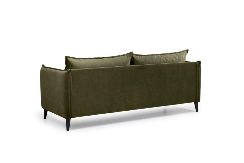 LEO 3 seater (TRENTO 13 khaki) back softnord soft nord scandinavian style furniture modern interior design sofa bed chair pouf upholstery