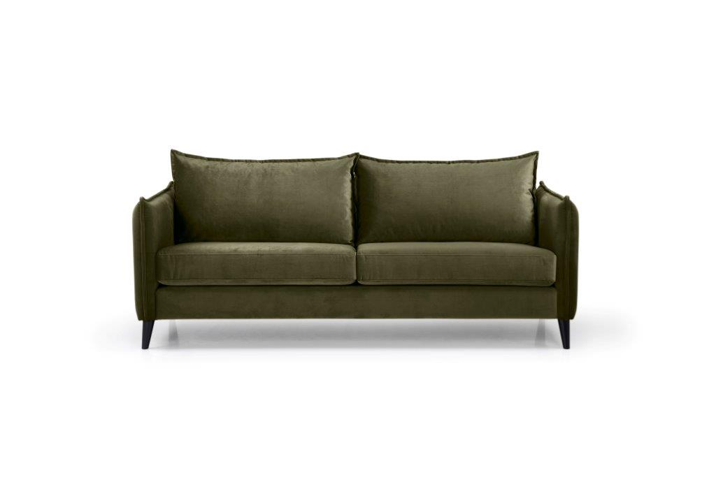 LEO 3 seater (TRENTO 13 khaki) front softnord soft nord scandinavian style furniture modern interior design sofa bed chair pouf upholstery