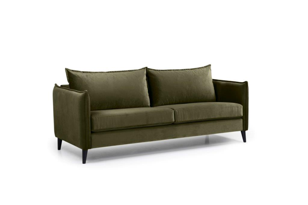 LEO 3 seater (TRENTO 13 khaki) side softnord soft nord scandinavian style furniture modern interior design sofa bed chair pouf upholstery