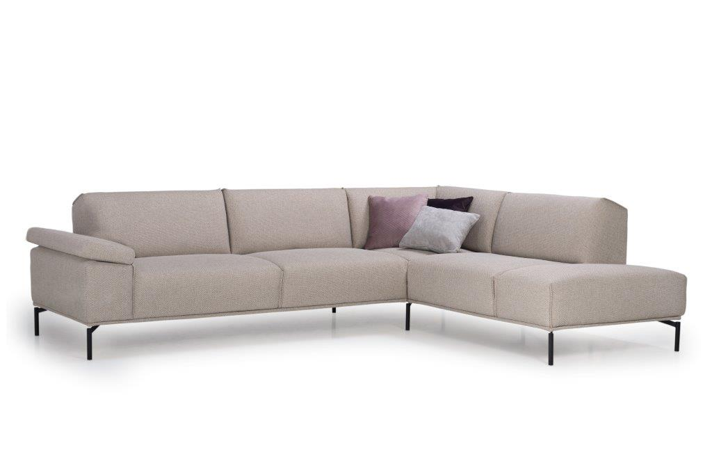 LISBON open corner (BERING 8 beige) side, arm A softnord soft nord scandinavian style furniture modern interior design sofa bed chair pouf upholstery