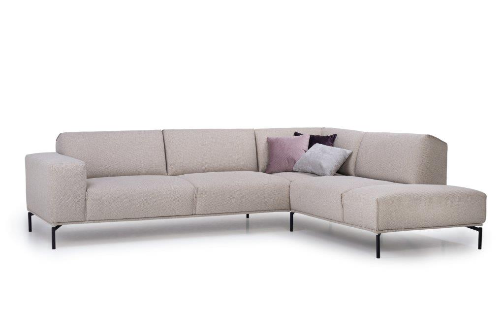 LISBON open corner (BERING 8 beige) side, arm B softnord soft nord scandinavian style furniture modern interior design sofa bed chair pouf upholstery
