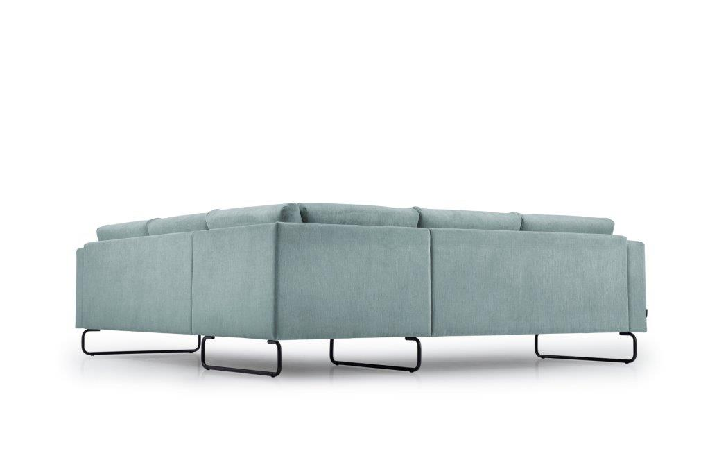 MARIO 2+90+2,5 (ORINOCO 29 sapphire) low back softnord soft nord scandinavian style furniture modern interior design sofa bed chair pouf upholstery